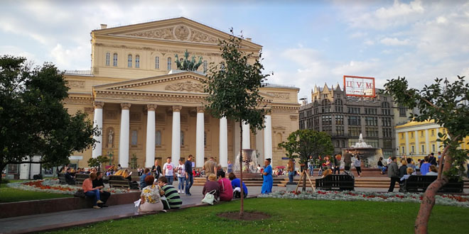 विश्वविख्यात बोलशोई थिएटर, मॉस्को, रूस